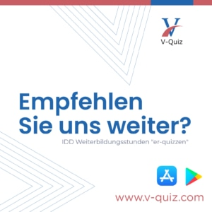 Mit der App V-Quiz online die IDD Weiterbildungspflicht erfüllen